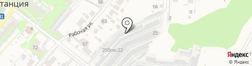 Наковальня на карте Зональной станции