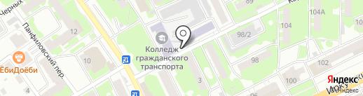 Киоск по продаже фруктов и овощей на карте Томска
