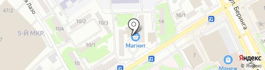 Магазин печатной продукции на карте Томска