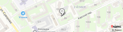 Флагман на карте Томска
