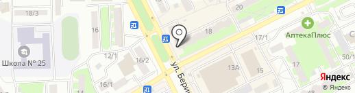 Диамант на карте Томска