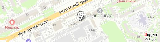 Аварком 210-210 на карте Томска