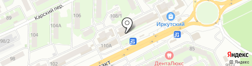 Янтарь на карте Томска