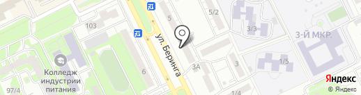 Стрижи на карте Томска