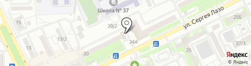 Каре на карте Томска