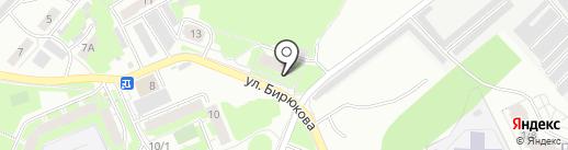 Автоджин на карте Томска