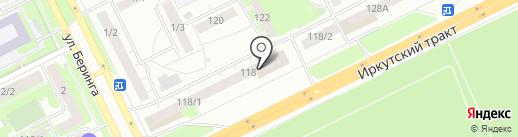 Томплит на карте Томска
