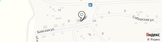 Новочемровский на карте Новой Чемровки