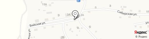 Виктория на карте Новой Чемровки