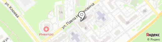 Межениновская птицефабрика на карте Томска