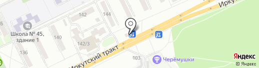 Магнолия на карте Томска