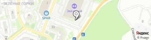Звездный на карте Томска