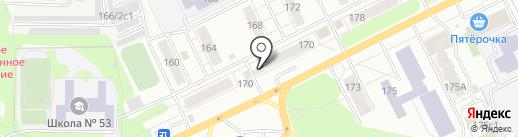Магазин фруктов и овощей на карте Томска