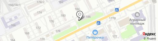 Киоск по продаже цветов на карте Томска