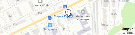 КОПИМАКС-реклама на карте Томска