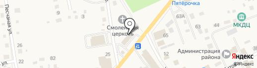 Парикмахерская на карте Смоленского