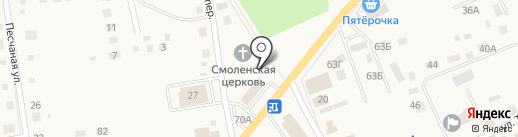 Солнечный на карте Смоленского