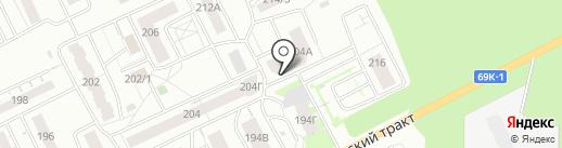 Пенная Лавка на карте Томска