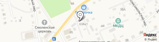 Шиномонтажная мастерская на Заводской на карте Смоленского