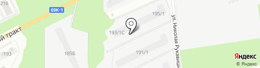 Молодежный на карте Томска