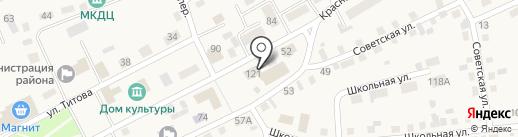 Почтовик на карте Смоленского