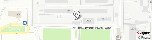 Рубин на карте Томска