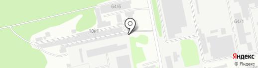 Гаражно-строительный кооператив №36 на карте Бийска