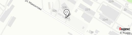 Вектор на карте Бийска