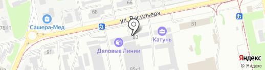 Отдел судебных приставов Приобского района на карте Бийска