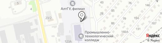 Алтайский государственный университет на карте Бийска