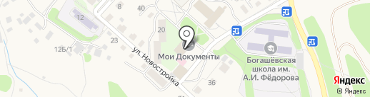 Библиотека им. Л.Д. Гурковской на карте Богашёво