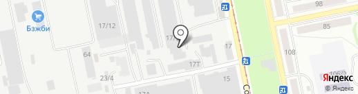 Автозапчасти в ДОКе на карте Бийска