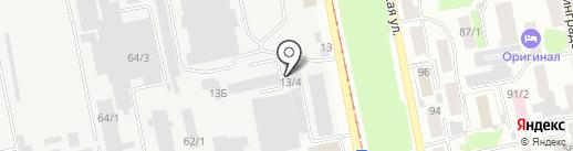 Беспалов В.Д. на карте Бийска