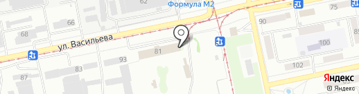 Трамвайное управление, МУП на карте Бийска