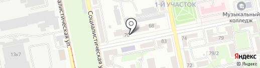У камина на карте Бийска