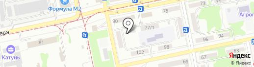 Гаражно-погребной кооператив №14 на карте Бийска