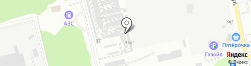 Лестница на карте Бийска