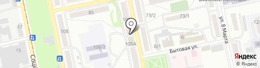 Аланд на карте Бийска