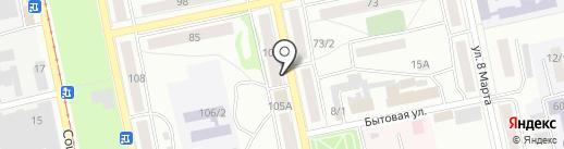 Почтовое отделение №15 на карте Бийска