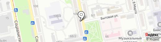 Магазин колбасных изделий на карте Бийска