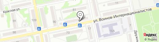 Магазин по продаже крепежа на карте Бийска