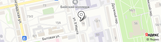 Адвокатская контора №4 на карте Бийска