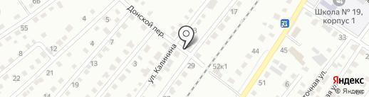 Калининский на карте Бийска