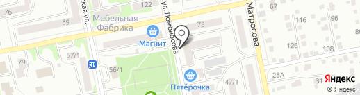 Де-Факто на карте Бийска