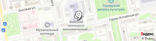 Бийский технолого-экономический колледж на карте Бийска