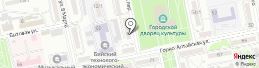 Отдел полиции Приобский, Межмуниципальное управление МВД России Бийское на карте Бийска