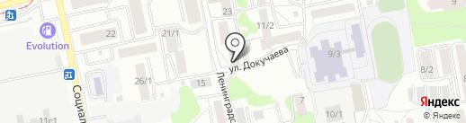 Желика на карте Бийска