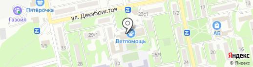 Библиотека №7 на карте Бийска