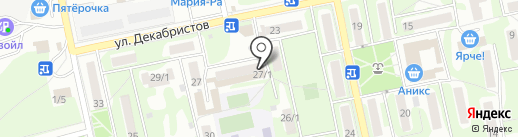 Почтовое отделение №22 на карте Бийска