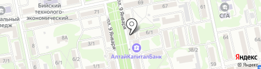 Часовая мастерская на карте Бийска